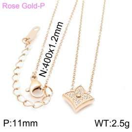 SS Rose Gold-Plating Necklace